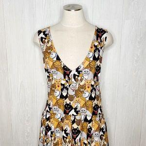 Vintage | Amazing 🐱 CAT 🐱 Dress Sz. M